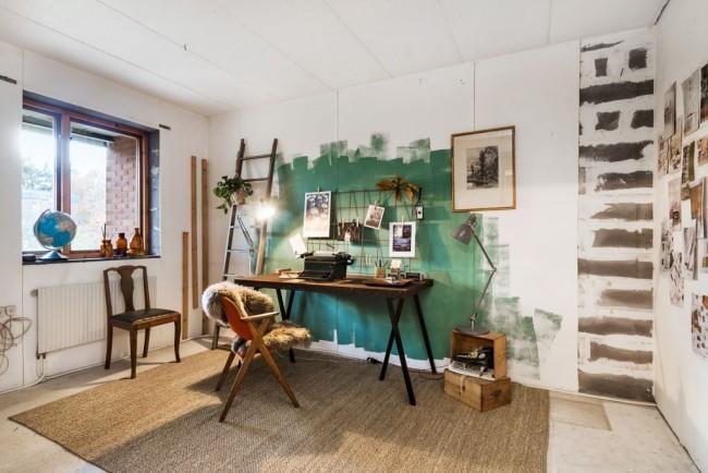 Espace personnel pour le travail et la créativité, inspirant et positif.  Conception et décoration: Nordic Aarv, Stockholm, Suède