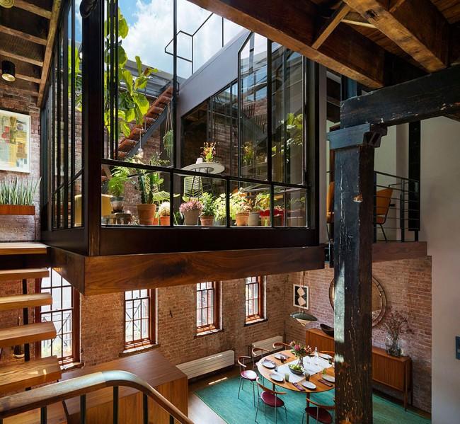 Ancienne savonnerie (Tribeca, Lower Manhattan, New York).  La superficie totale des locaux est de 285 m².  m