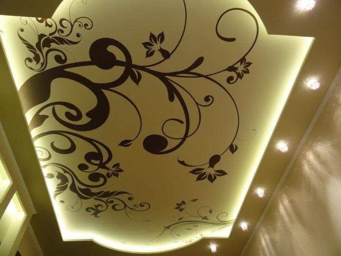 construction en plaques de plâtre avec motifs