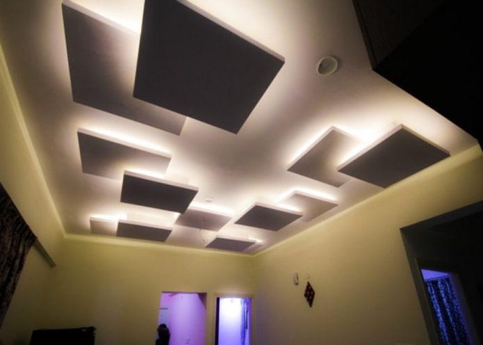 construction de plaques de plâtre en carrés