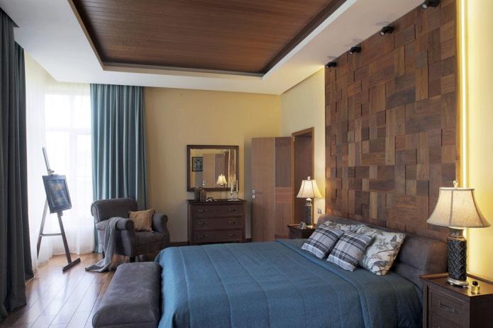 construction de plaques de plâtre combinée avec du bois