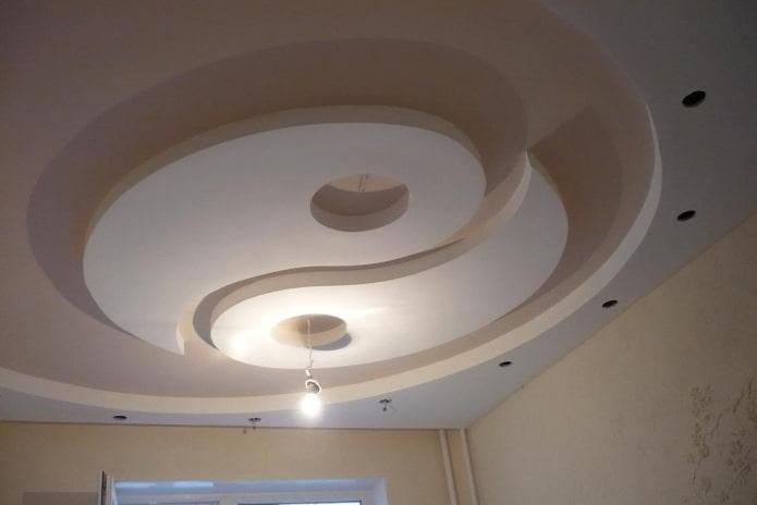 construction de plaques de plâtre yin-yang