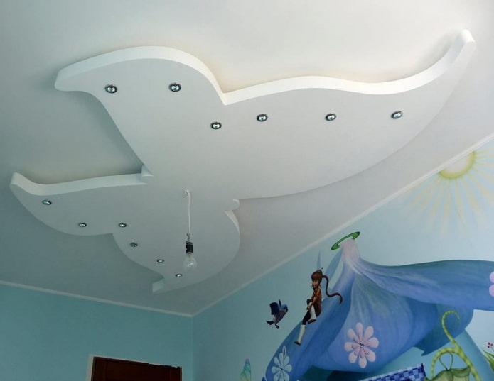 construction de cloisons sèches en forme de papillon