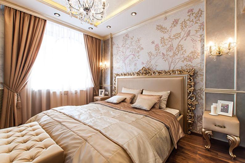 Papier peint pour la chambre dans un style classique