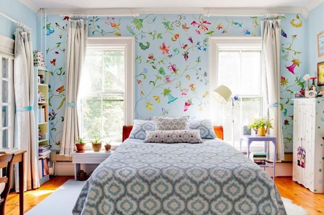 Une riche teinte bleu ciel combinée à la lumière naturelle ajoutera de la fraîcheur et de la légèreté à la pièce.