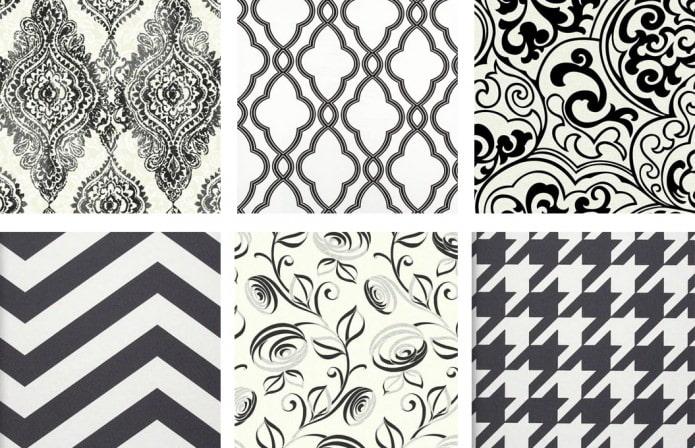 papier peint noir et blanc