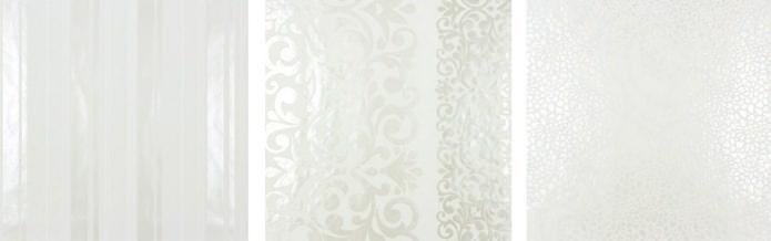 papier peint blanc à effet nacré