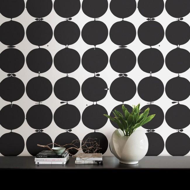 Papier peint noir et blanc élégant pour un intérieur moderne