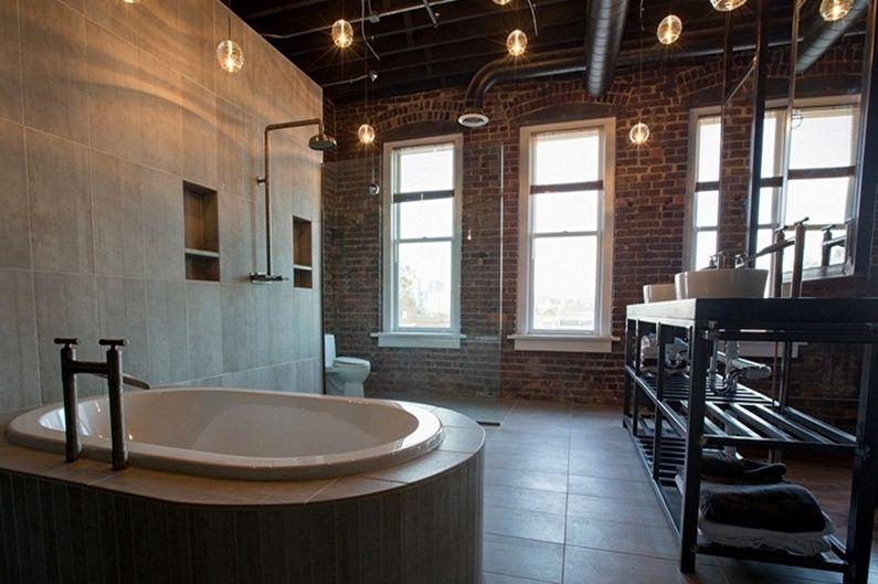 Baignoire d'angle au design loft