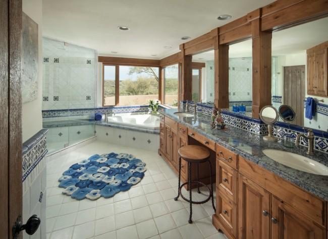 Une autre option pour le placement mutuel du bain et de la douche