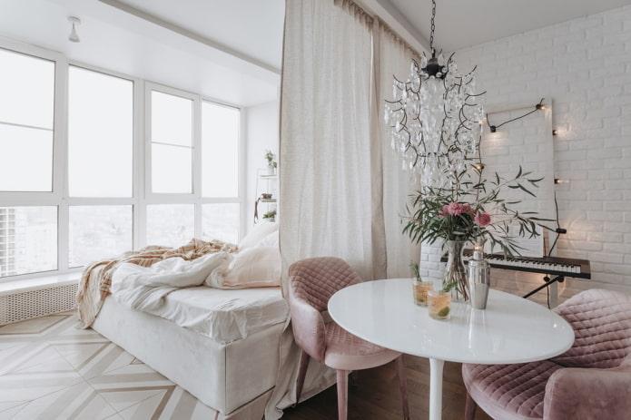 zoner la pièce avec des rideaux