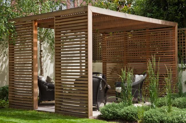 Pavillon en pin facile à construire pour l'ombre