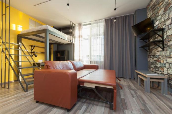 mobilier en studio dans un style industriel