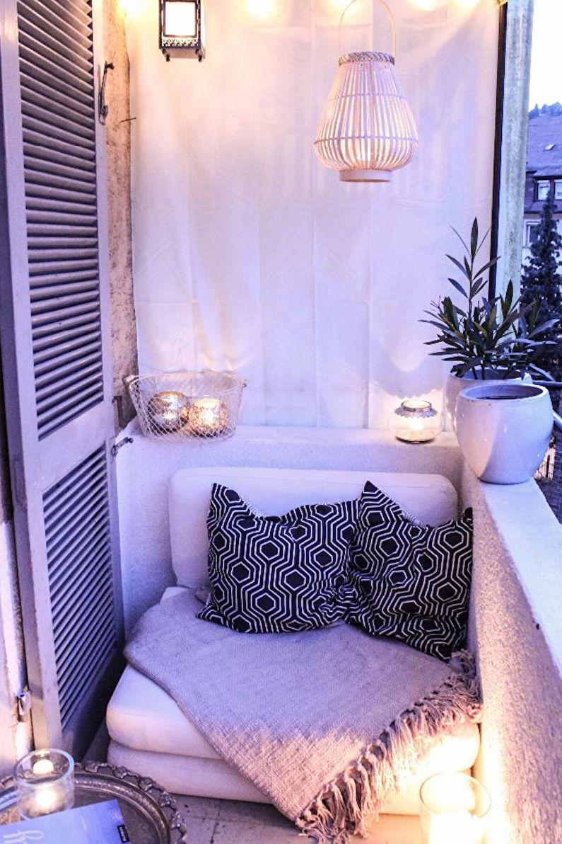 Aménagement d'une zone de loisirs sur le balcon - Design d'intérieur
