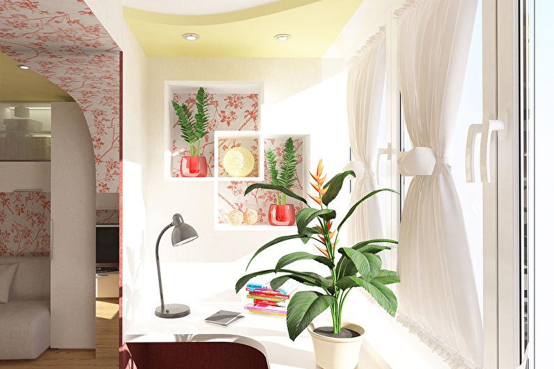 Lieu de travail sur le balcon - Design d'intérieur
