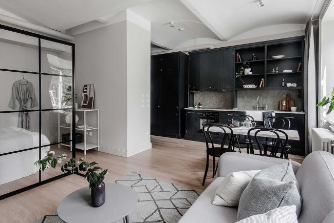 Zonage compact et fonctionnel dans l'appartement