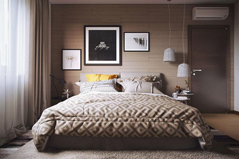 Design de chambre à coucher à Khrouchtchev - Style moderne