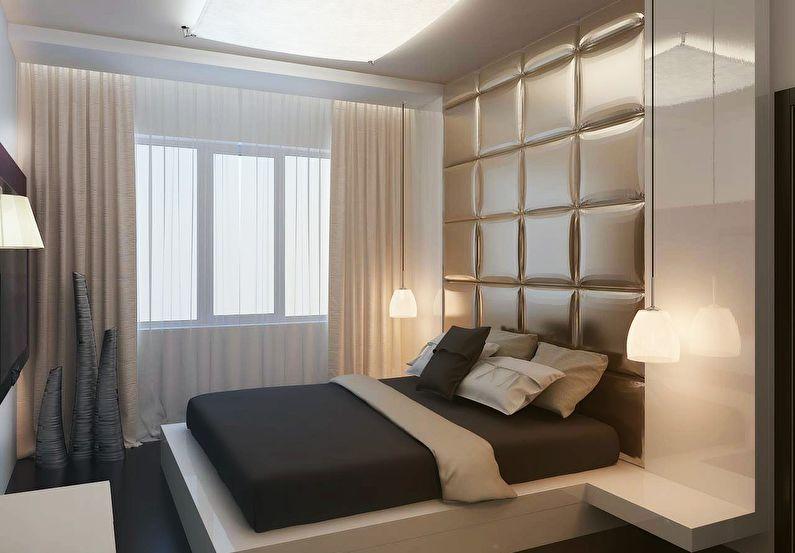 Design de chambre à coucher à Khrouchtchev - style minimalisme