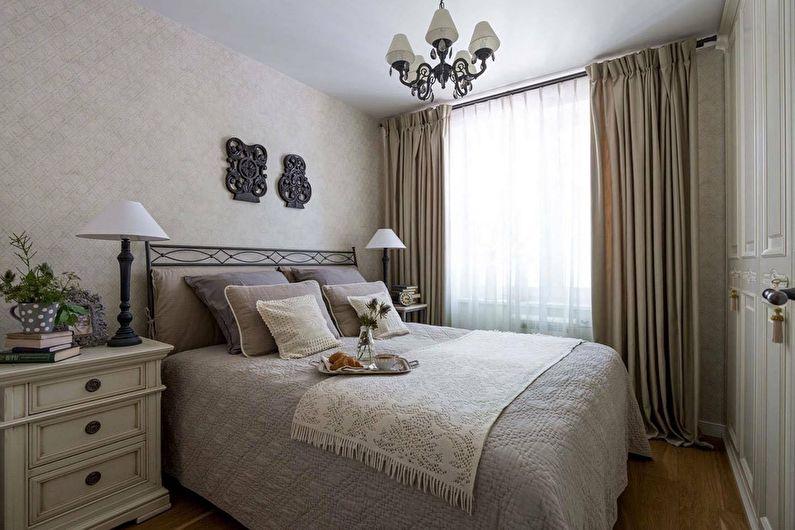 Design de chambre à coucher à Khrouchtchev - Style classique
