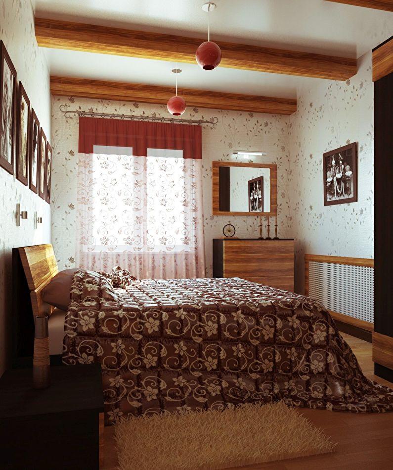 Design de chambre à coucher à Khrouchtchev - Style campagnard