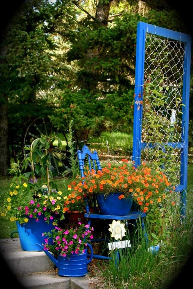 Composition de fleurs sur le site