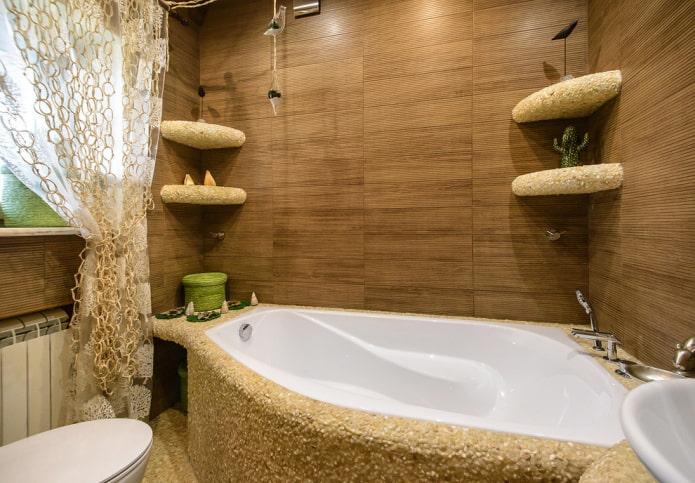 Forme de bain inhabituelle