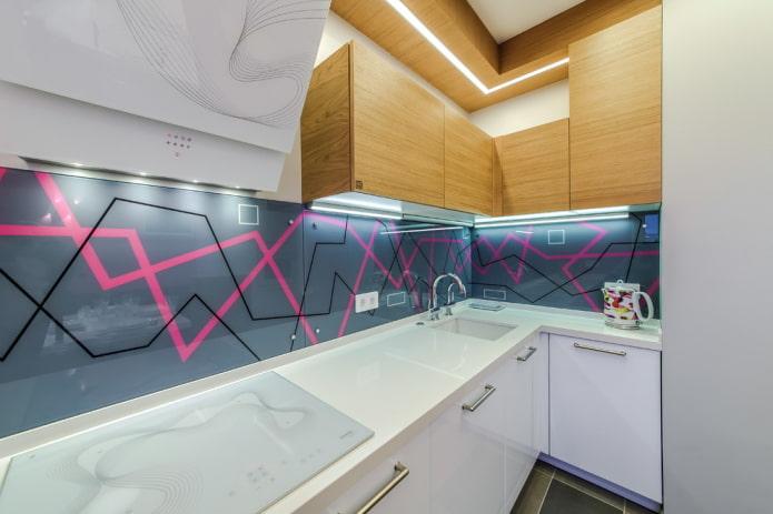 verre dans la décoration du tablier de cuisine