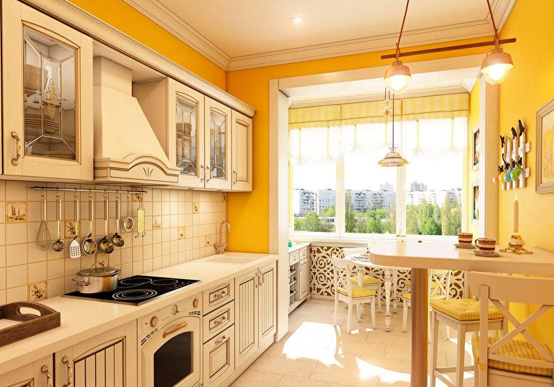 Conception de cuisine orange de style provençal
