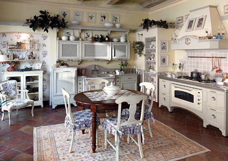 Conception et décoration de cuisine de style provençal