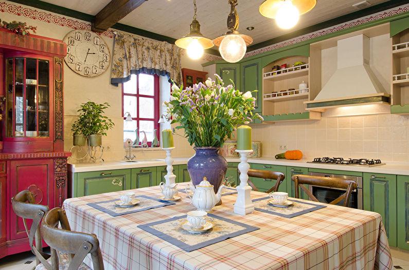 Cuisine d'angle de style provençal