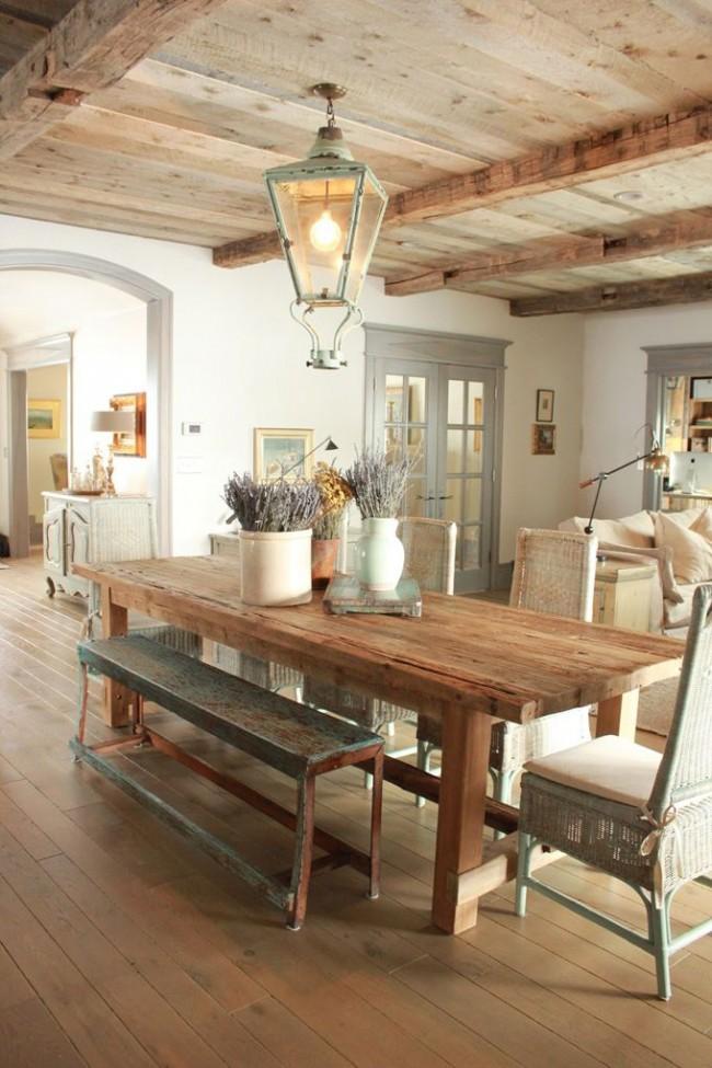 Style naïf et romantique dans la décoration de la cuisine