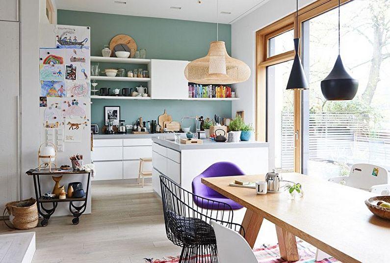 Conception de cuisine scandinave - couleurs pastel
