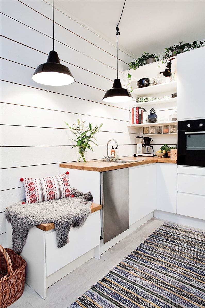 Design d'intérieur de cuisine de style scandinave