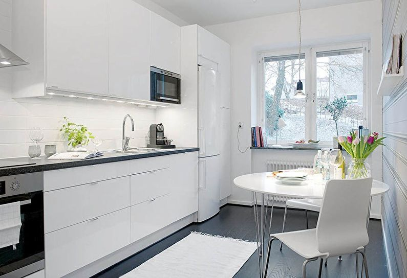 Cuisine blanche de style scandinave - design
