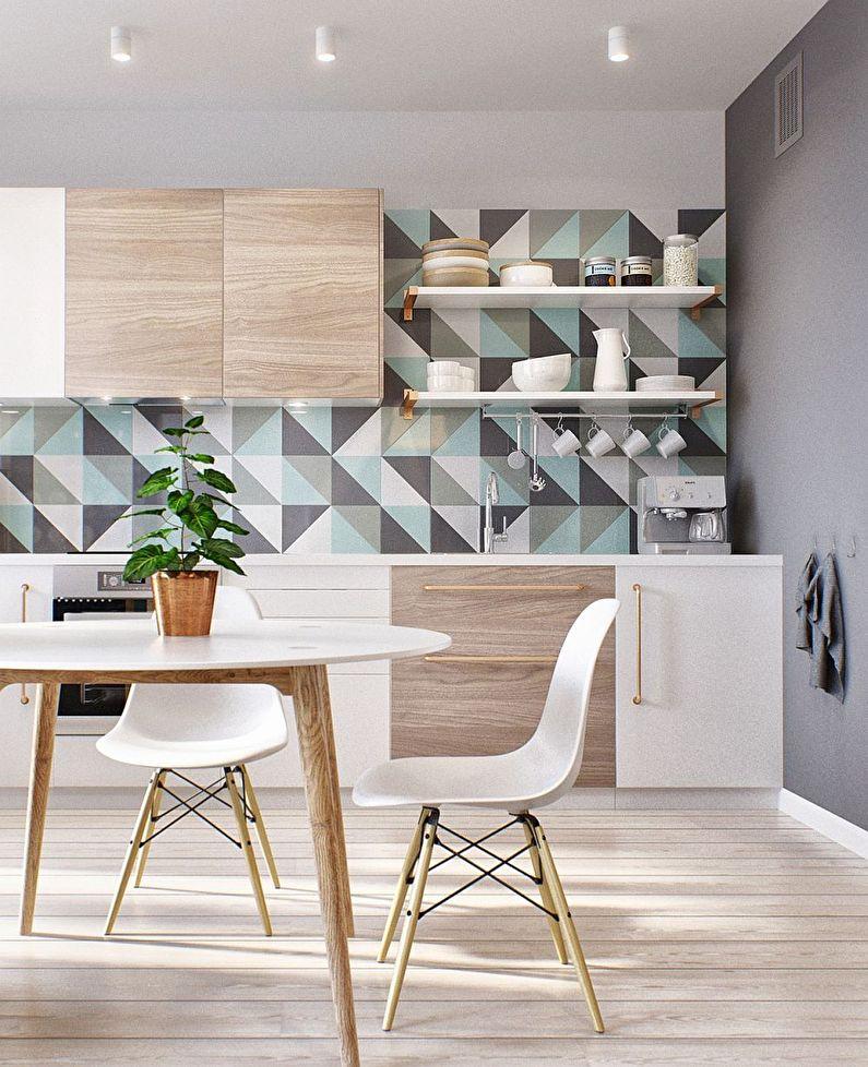 Design mural - Cuisine de style scandinave