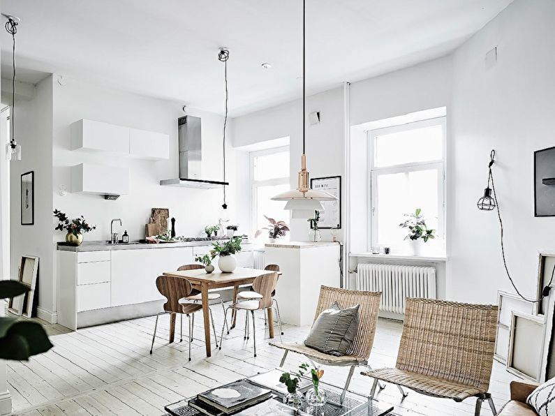 Plafond design - Cuisine de style scandinave