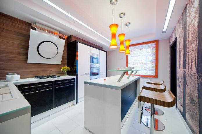 comptoir-îlot de bar dans la cuisine