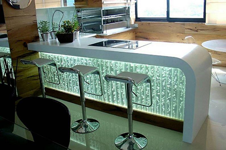 Cuisines de bar - Matériaux et décoration