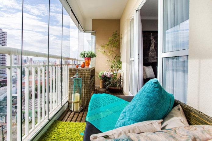 vitrage de balcon sans cadre