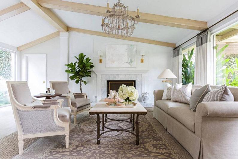 Style néoclassique à l'intérieur - Décoration de plafond
