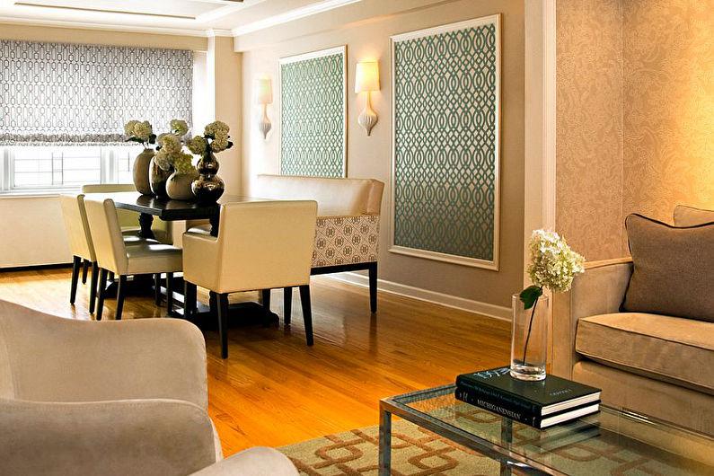 Style néoclassique à l'intérieur - Décor et textiles