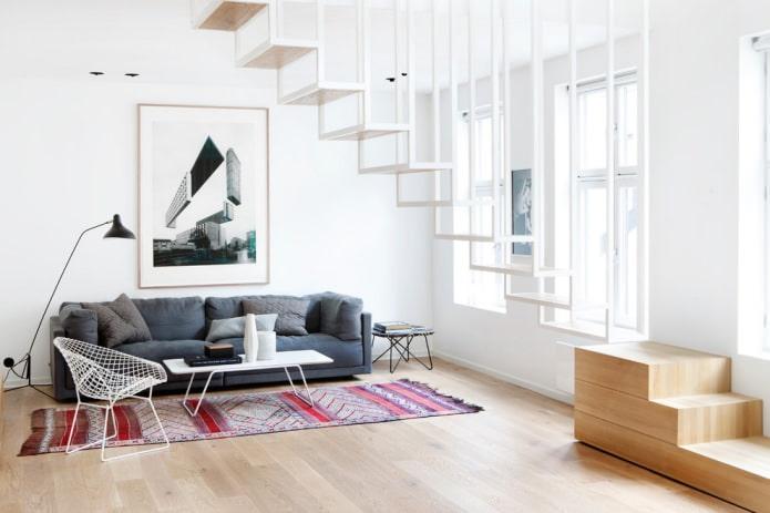 minimalisme dans le salon
