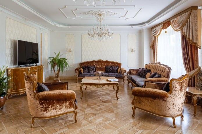 rideaux classiques avec lambrequin