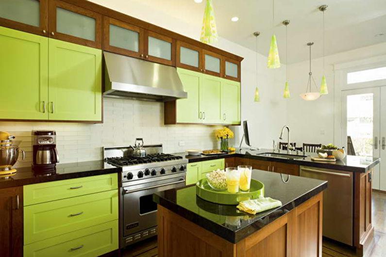 Vert avec marron - La combinaison de couleurs à l'intérieur
