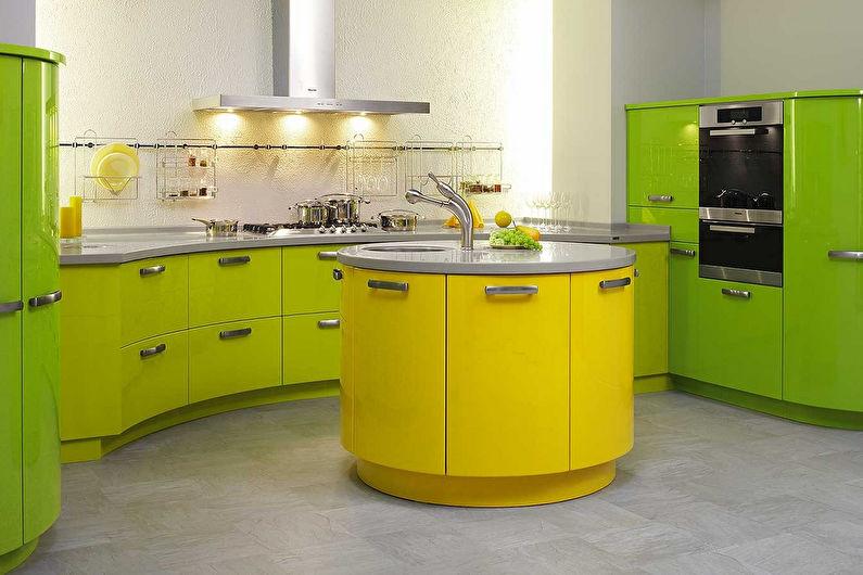 Vert avec jaune - La combinaison de couleurs à l'intérieur