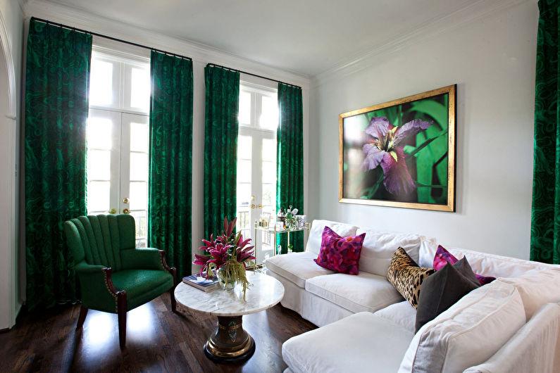 Vert avec blanc - La combinaison de couleurs à l'intérieur