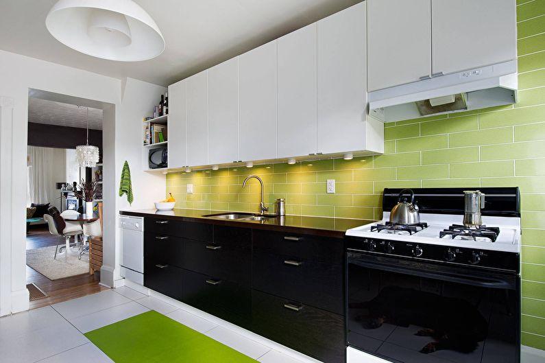 Vert avec noir - La combinaison de couleurs à l'intérieur