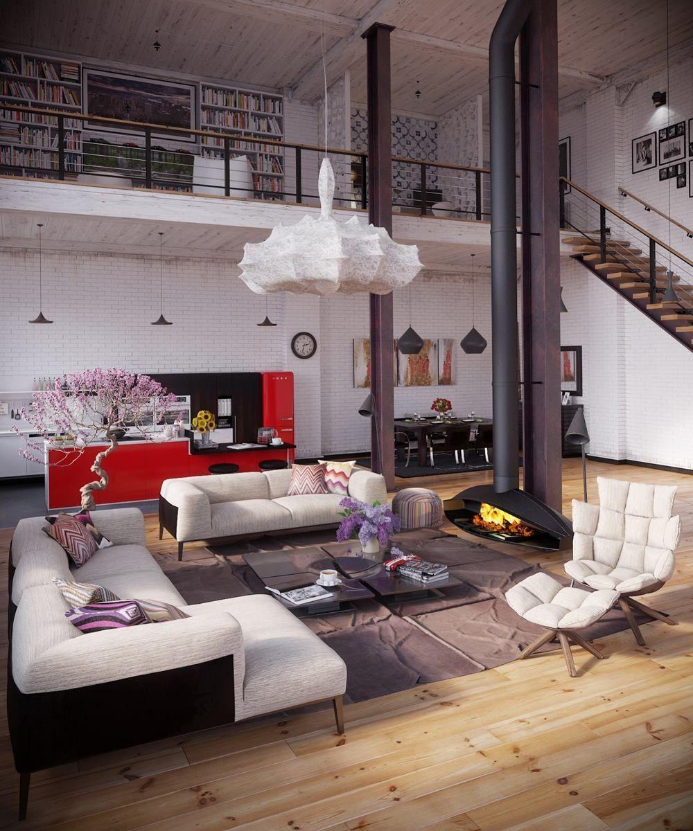 La décoration intérieure des grands espaces industriels, en fait, est devenue un style loft.