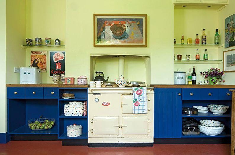 Pistache avec bleu - La combinaison de couleurs à l'intérieur