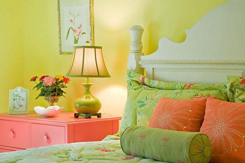 Pistache avec jaune - La combinaison de couleurs à l'intérieur